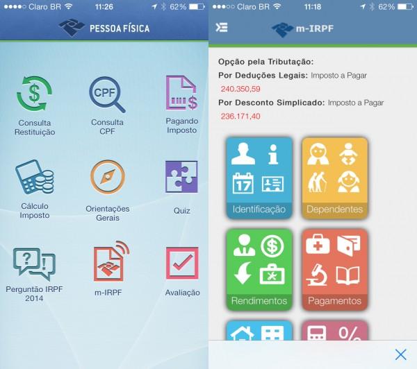 Aplicativo IRPF 2021 para Celular