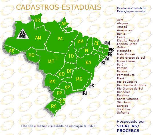 Selecione o estado de São Paulo no mapa